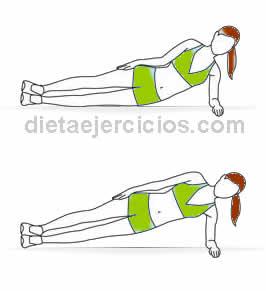 rutina de ejercicios abdominales tabla lateral