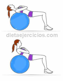 rutina de ejercicios abdominales caracoles