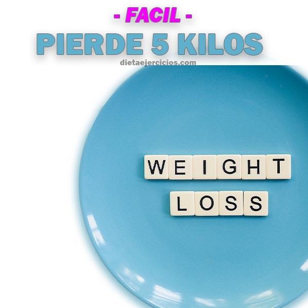 Como perder 5 kilos