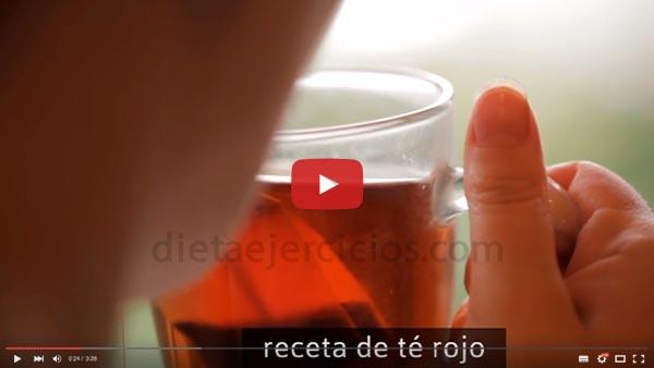 como preparar té rojo