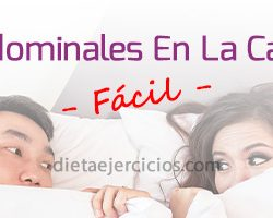 Ejercicios abdominales en la cama