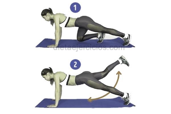 ejercicios balanceando las piernas