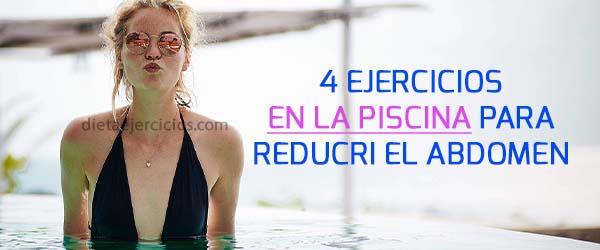 ejercicios en la piscina para reducir el abdomen