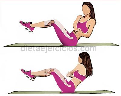 ejercicios para quemar grasa de la barriga Pivotes de lado