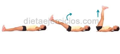 Ejercicios abdominales elevando las piernas