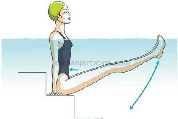 ejercicios en la pileta para reducir el abdomen